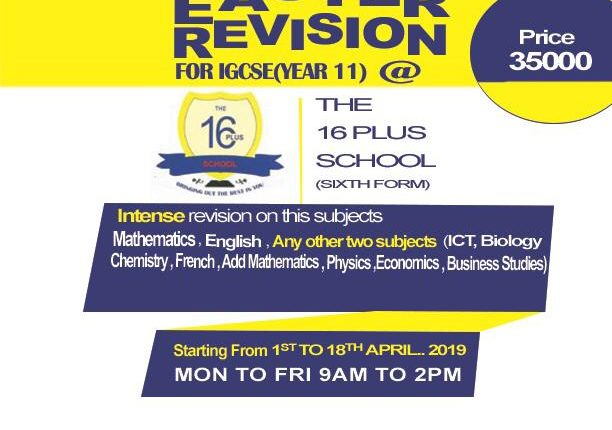 EASTER REVISION 2019