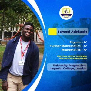 The16 plus School-Graduate-Samuel-Uk-University2